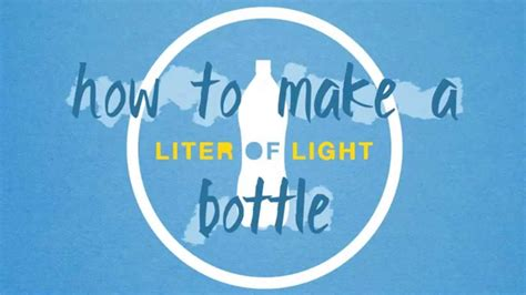 how to make a l how to make a liter of light youtube