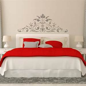 Stickers muraux tete de lit maison design bahbecom for Carrelage adhesif salle de bain avec lit avec tete de lit led