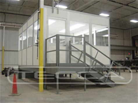 bureau d atelier modulaire cloison aluminium amovible cabine sur elevée cabine et