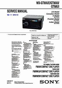 Sony Wx-gt80ue Service Manual