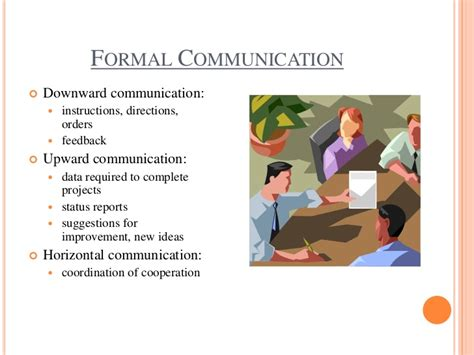 Formal communication in an organization