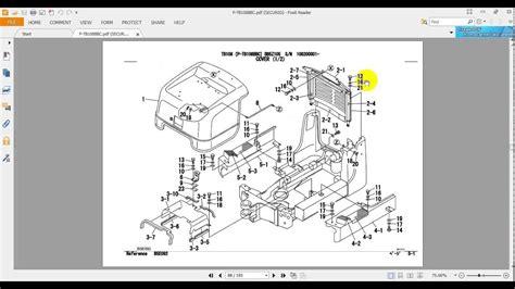takeuchi excavator tb108 parts manual 2 youtube