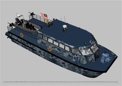 sabrecraft marine patrol jetcat  gun boat
