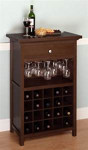 Wine Cabinet with Drawer and Glass Rack OJCommerce