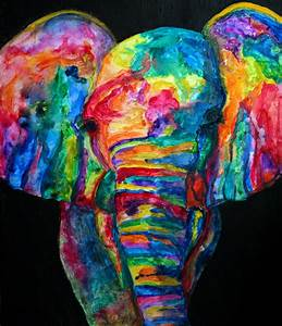 Colorful Elephant Background