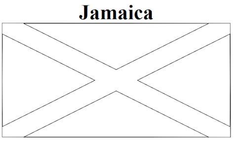 Jamaica Flag Coloring Page - Eskayalitim