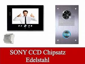 Edelstahl Video Türsprechanlage : video t rsprechanlage gegensprechanlage mit elegantem 7 tft monitor ~ Sanjose-hotels-ca.com Haus und Dekorationen