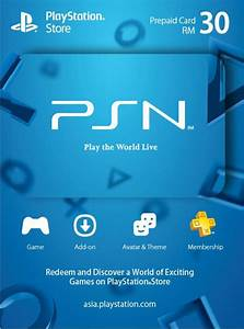 Sony Playstation Network Psn Rm30 Digital Code