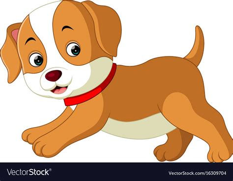 Cute Dog Cartoon Royalty Free Vector Image