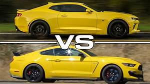 2016 Chevrolet Camaro SS vs 2016 Ford Mustang Shelby GT350R - YouTube