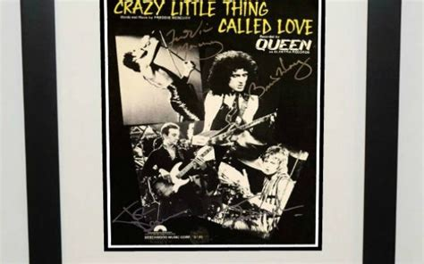 Crazy Little Thing Called Love, Signed Sheet Music