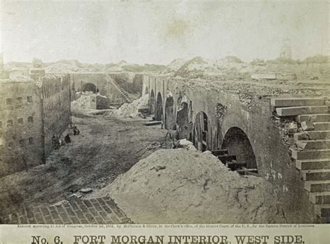 history  fort morgan land  military occupation fort