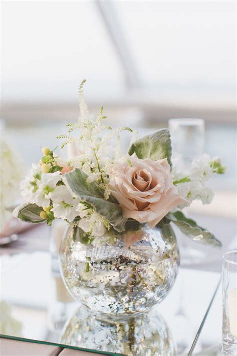 Small Floral Vases by Modern And Silver Wedding In Chicago Vase