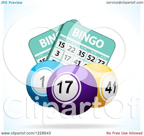clipart   floating bingo balls  cards royalty