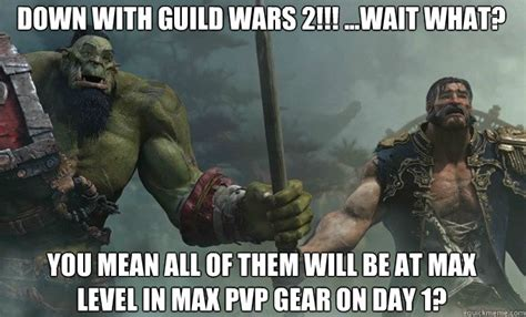 Gw2 Memes - down with guild wars 2 wait what you mean all of them will be at max level in max pvp