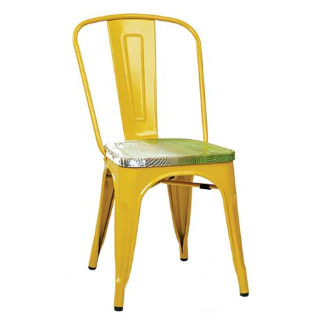 yellow table l base yellow antique pine wood seat tolix chair tablebasedepot
