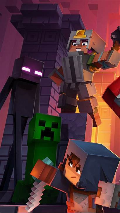 Minecraft Dungeons Characters Vertical Wallpapers