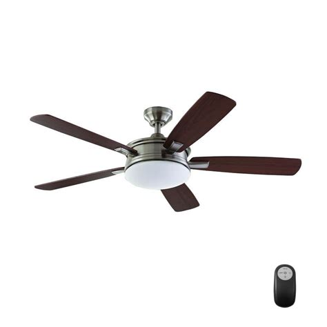 home depot ceiling fans without lights hunter fan light kit home depot indoor brushed nickel