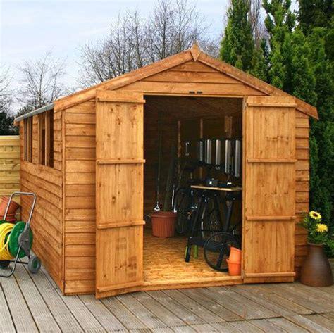 used sheds 12x8 overlap wooden shed window door apex roof felt