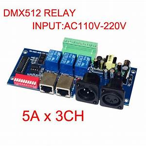 Wholesale 1pcs Dmx512 3p Rj45 Relay Switch Input Ac110v