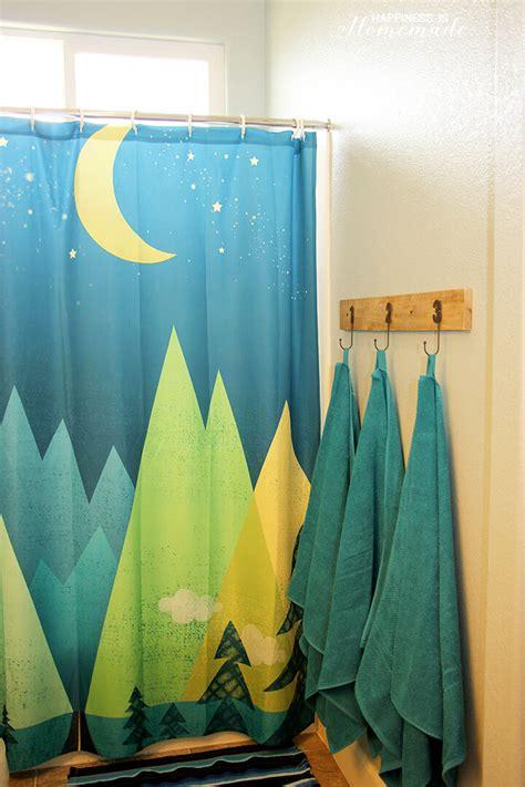 Outdoor Adventure Themed Bathroom  Happiness Is Homemade