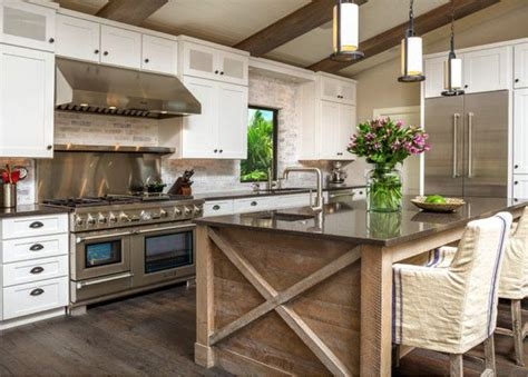 white kitchen wood island wood island kitchen island trends 1425