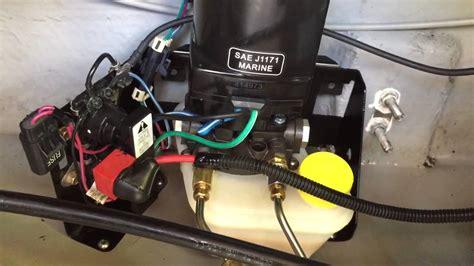 Mercruiser Trim Pump Noise Youtube