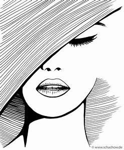 Richtig Coole Bilder : tusche zeichnung einer frau mit hut zeichnungen zeichnungen zeichnung einer frau und ~ Eleganceandgraceweddings.com Haus und Dekorationen