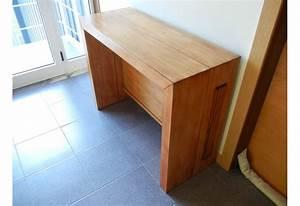 Table Console Extensible Bois : console extensible en bois massif avec 4 allonges extensible de 40 240 cm ~ Teatrodelosmanantiales.com Idées de Décoration