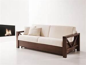 Divano letto in legno, trasformabile, per salotti IDFdesign