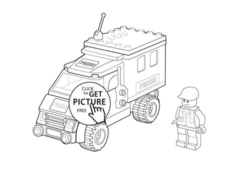 Colouring In Sheets Lego Man Coloring Police Cars The