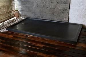Receveur De Douche 120 X 120 : kiaora shadow receveur de douche 120x100 granit noir ~ Edinachiropracticcenter.com Idées de Décoration