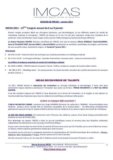 si鑒e du medef adresse communiqué de presse imcas pb communication janvier 2011