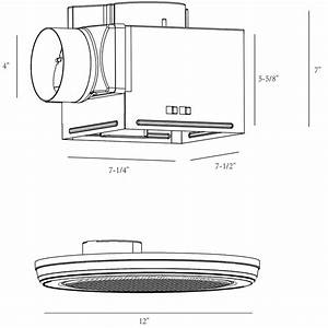 Bathroom Exhaust Fan Round W   Bluetooth Stereo Speakers