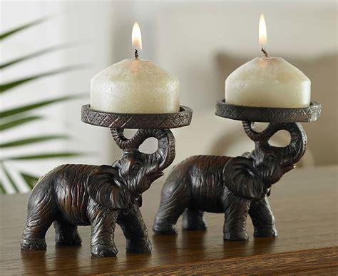 elephant candle holder s s elephant design candle holder set of 2