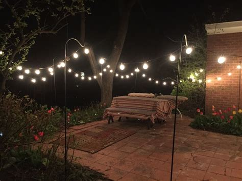 globe string lights   bulbs ft black wire outdoor clear string lights   hooks