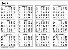 August 2019 Calendar Cute monthly printable calendar