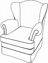 Cartoon Chair Sofa Armchair Clipart Drawing Couch Leather Getdrawings Clipartmag sketch template
