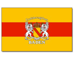 stock flagge baden mit wappen    regionen