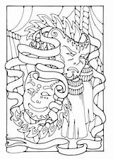 Coloring Pages Masks Sheets Theater Theatre Drama Printable Adult Hawaiidermatology sketch template