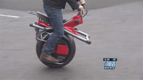 One-wheeled Motorcycle Rides To Fame