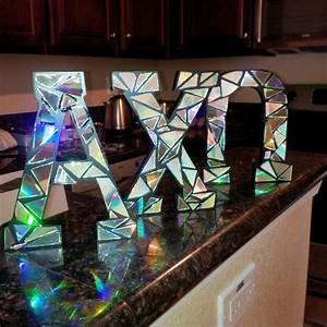 best 25 decorate wooden letters ideas on pinterest With giant greek letters