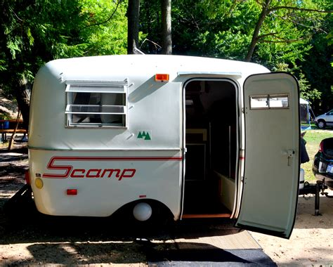 scamp travel trailer camp  style