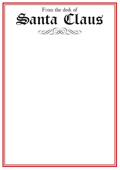 Santa Letter Template Free Templates For Santa Letters Search Results