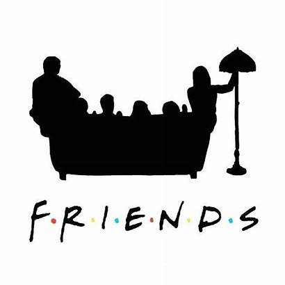 Clipart Friends Couch Silhouette Outline Libretas Naklejka