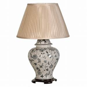 Blue ceramic table lamp table lamps for living rooms for Ceramic table lamps for living room