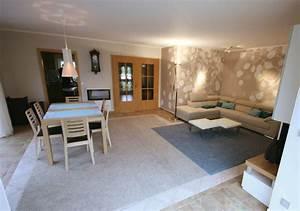 Moderne Wandfarben Für Wohnzimmer : wohnidee f r ein modernes wohnzimmer ~ Sanjose-hotels-ca.com Haus und Dekorationen