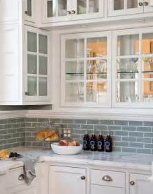 tiled kitchen ideas blue glass tile transitional kitchen artistic