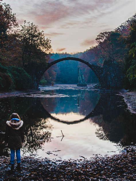 rakotzbruecke devils bridge creates  perfect circle