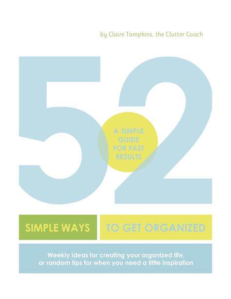 52 Simple Ways To Get Organized (download